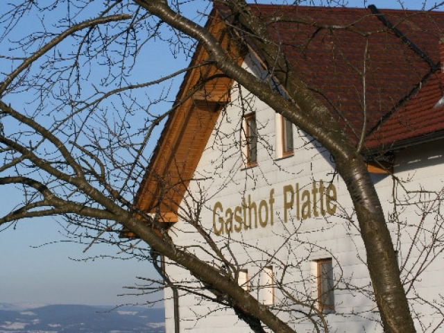 "Gasthof ""Zur Platte"" - Waldrestaurant und Pension - Winter"